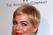 Actress Michelle Williams arrives at The Weinstein Company And Relativity Media's 2011 Golden Globe Awards Party held at The Beverly Hilton hotel on January 16, 2011 in Beverly Hills, California.