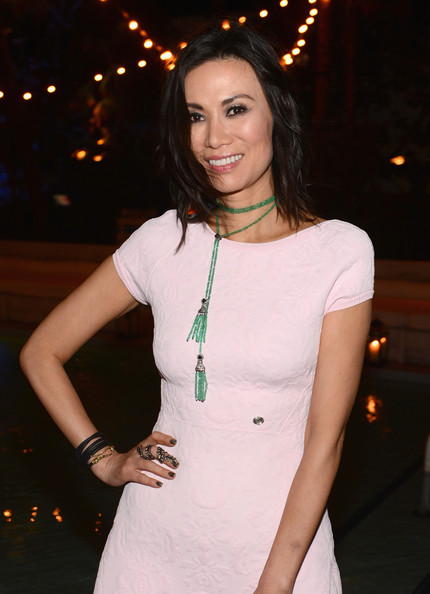 Wendi Deng Murdoch Beaded Lariat Necklace