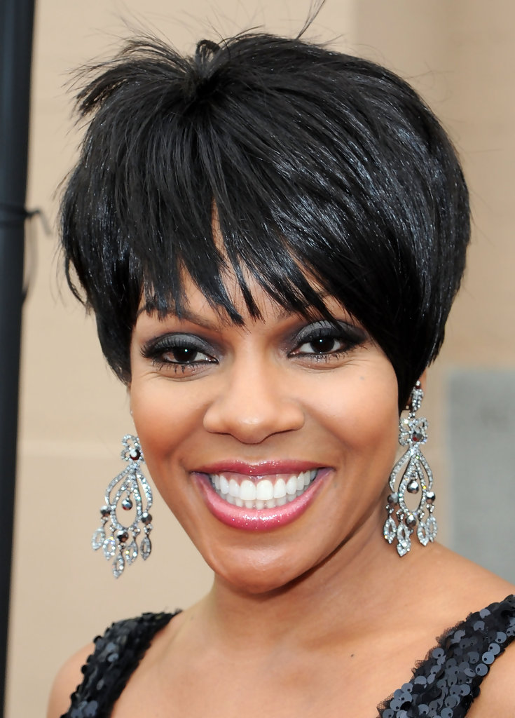 Wendy Raquel Robinson Short Cut With Bangs Short