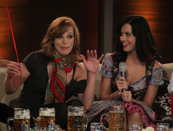 More Pics of Katy Perry Bodysuit (3 of 53) - Pajamas & Intimates Lookbook - StyleBistro [liqueur,drink,distilled beverage,fun,brown hair,alcohol,event,games,whisky,wetten dass,munich,germany,olympiahalle,milla jovovich,katy perry]