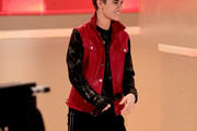 Singer Justin Bieber arrives for the 'Wetten Dass ... ?' TV show at Augsburg fair ground on March 19, 2011 in Augsburg, Germany.