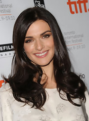 Rachel Weisz showed off her brunette curls while hitting 'The Whistleblower' premiere.
