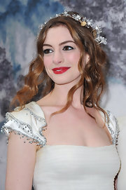 Anne painted her lips red to add a pop of color to her ethereal look at the 'Fairy Tale Love Ball.'