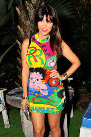 Kourtney went for big and bold prints when she wore this cartoon Betty Boop-print dress.