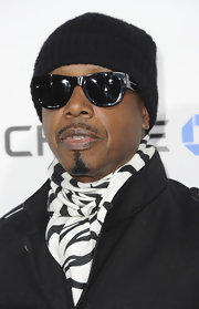 MC Hammer rocked a zebra print scarf at the I.AM.Angel Foundation benefit concert.