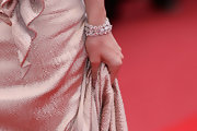 Lucy Punch wore a gorgeous diamond cuff bracelet to the premiere of 'You Will Meet a Tall Dark Stranger.'