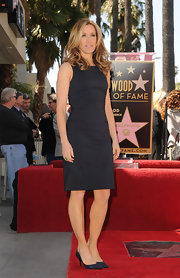 Felicity Huffman wore this basic LBD to get her star on the Hollywood Walk of Fame.