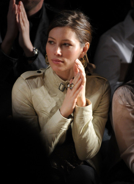 More Pics of Jessica Biel Gold Hoops (1 of 20) - Jessica Biel Lookbook - StyleBistro