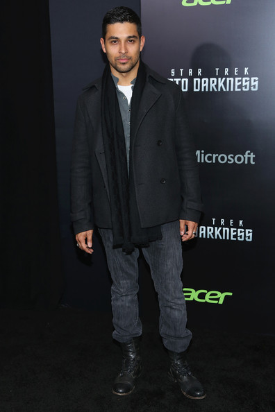 Wilmer Valderrama Pea Coat [star trek into darkness,suit,formal wear,fashion,outerwear,tuxedo,cool,footwear,blazer,premiere,shoe,wilmer valderrama,new york special screening - inside arrivals,screening,new york city,lincoln square,amc loews]