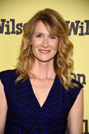 Laura Dern was perfectly coiffed with piecey, shoulder-length waves and side-swept bangs at the New York screening of 'Wilson.'