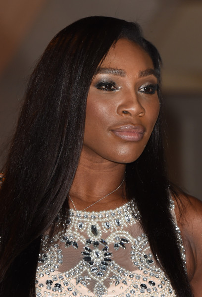 More Pics of Serena Williams Beaded Dress (1 of 15) - Dresses & Skirts Lookbook - StyleBistro [hair,face,eyebrow,hairstyle,beauty,black hair,lip,long hair,fashion,forehead,red carpet arrivals,serena williams,dinner,wimbledon,the guildhall,london,england,champions]
