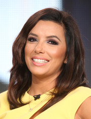 Eva Longoria looked pretty with her subtly wavy bob at the Winter TCA Tour.