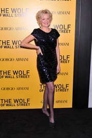 Christine Ebersole looked party-ready in a sequined LBD during the NYC premiere of 'The Wolf of Wall Street.'