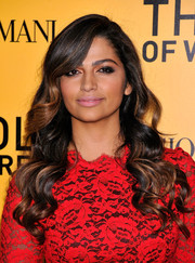 Camila Alves sported a perfectly sculpted wavy 'do at the NYC premiere of 'The Wolf of Wall Street.'