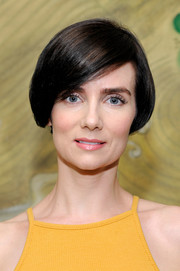 Victoria Summer wore her hair in a chic bob at the Wolk Morais Collection 5 fashion show.