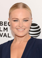 Malin Akerman slicked her hair back into a center-parted chignon for the Tribeca Film Fest premiere of 'Wolves.'
