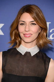 Sofia Coppola stuck to her signature 'do with this slightly wavy chop.