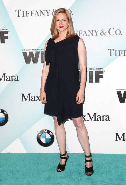 Laura Linney donned a draped LBD with an asymmetrical neckline for the Crystal + Lucy Awards.