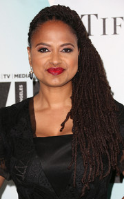 Ava DuVernay attended the Crystal + Lucy Awards wearing voluminous side-swept dreadlocks.