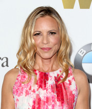Maria Bello looked chic with her spiral waves at the 2016 Crystal + Lucy Awards.