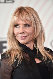 Rosanna Arquette attended the 2018 Crystal + Lucy Awards wearing this stylish layered cut with wispy bangs.