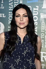 Laura Prepon stuck to her signature long raven waves when she attended Women's Health's Party Under the Stars.