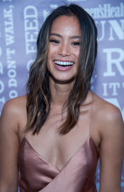 Jamie Chung left her hair loose with subtle waves when she attended the Party Under the Stars.