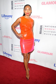 Logan Browning attended the Women Making History Awards looking bright in an ombre sequin dress.