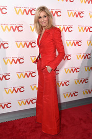 Judith Light worked a retro vibe in this red bell-bottom pantsuit at the 2017 Women's Media Awards.