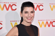 Julianna Margulies wore her hair in a pompadour ponytail at the 2017 Women's Media Awards.
