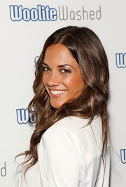 Jana Kramer looked sunkissed at the WooliteWashed Boutique Launch Party with her bronzed luminous skin.