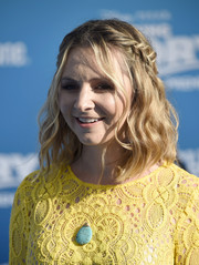 Beverley Mitchell sported a boho-chic half-up braid at the world premiere of 'Finding Dory.'