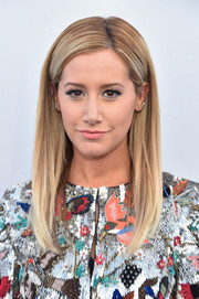 Ashley Tisdale sported a very neat straight hairstyle at the world premiere of 'Tomorrowland.'