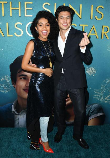 More Pics of Yara Shahidi Skinny Jeans (1 of 17) - Jeans Lookbook - StyleBistro [the sun is also a star,formal wear,suit,tuxedo,event,premiere,arrivals,charles melton,yara shahidi,grove,los angeles,california,warner bros,world premiere of warner bros,world premiere]