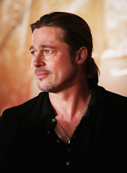 Brad Pitt rocked a ponytail at the 'World War Z' Australian premiere.