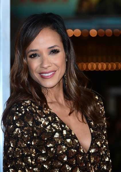 Dania Ramirez showed off lovely side-parted waves at the world premiere of 'Fist Fight.'