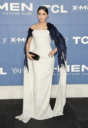 Fan Bingbing looked exotic in a winged gown by Georges Chakra Couture during the 'X-Men' world premiere.