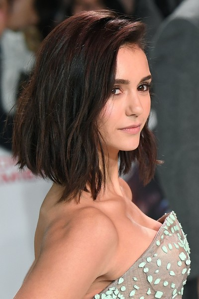 Nina Dobrev debuted a chic graduated lob at the European premiere of 'xXx: Return of Xander Cage.'