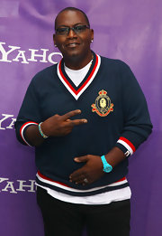 Randy Jackson appeared at the It's Y!ou Yahoo! Yodel Competition in a classic Ralph Lauren V-neck sweater.
