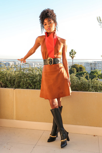 Yara Shahidi Knee High Boots [photo shoot,cnn heroes,image,clothing,brown,human leg,textile,joint,outerwear,fashion accessory,style,high heels,knee,dress,yara shahidi bts,yara shahidi,appearance,appearance,clothing,fashion,fashion,dress,shoe,tights,donna melluso scarpe argento,clothing,costume,dos gardenias stein square neck bralette bikini top,model m keyboard]