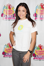 Bethenny Frankel made an appearance at the 2011 'Yo Gabba Gabba!' Live! tour wearing her silky hair simply styled.