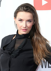 Rachel Mullins attended 'The Big Live Comedy Show' wearing her hair in a tousled side-swept style.