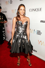 Dania Ramirez finished off her look with black ankle-strap stilettos.