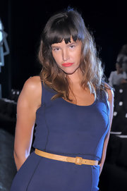 Paz de la Huerta perked up her pouty kissers with a swipe of coral-hued lipstick when she attended the Z Spoke fashion show.