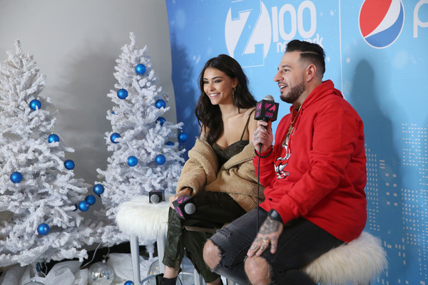 More Pics of Madison Beer Faux Fur Coat (2 of 13) - Outerwear Lookbook - StyleBistro [blue,christmas,christmas tree,tree,winter,event,christmas eve,fur,photography,holiday,arrivals,madison beer,new york city,hammerstein ballroom,z100,jingle ball 2018,pre-show,mo bounce]