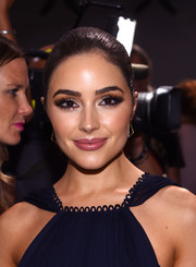 Olivia Culpo sported a perfectly sleek ponytail at the Zac Posen fashion show.