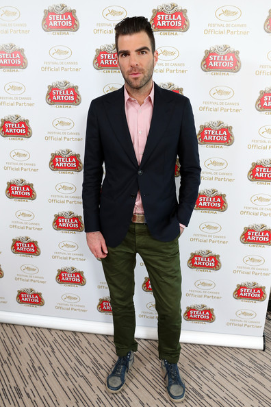 Zachary Quinto Blazer [suit,clothing,outerwear,formal wear,fashion,footwear,blazer,tuxedo,drink,premiere,zachary quinto,the stella artois suite,radisson blu,the stella artois suite - the 66th annual cannes film festival,cannes,france,cannes film festival]