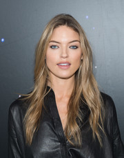 Martha Hunt went boho with this loose center-parted style at the Zadig & Voltaire fashion show.
