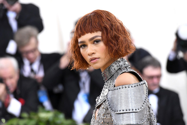 Zendaya Coleman Short Wavy Cut [heavenly bodies: fashion the catholic imagination costume institute gala - arrivals,hair,fashion,beauty,hairstyle,lady,fun,event,bangs,photography,hair coloring,new york city,metropolitan museum of art,zendaya]