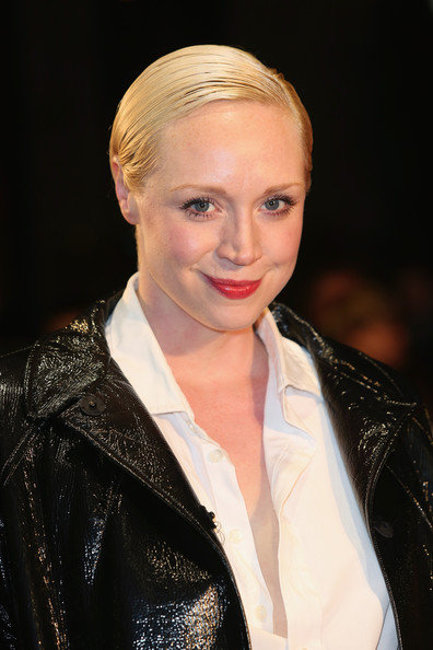 More Pics of Gwendoline Christie Short Side Part (1 of 11) - Gwendoline Christie Lookbook - StyleBistro [zero theorem,hair,hairstyle,blond,eyebrow,lip,fashion,beauty,chin,fashion model,long hair,red carpet arrivals,gwendoline christie,odeon west end,london,england,bfi london film festival,screening]